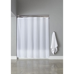 Hooked™ Polyester Shower Curtain w/ Buttonholes 72x72 White 12 Per Case Price Per Each