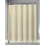 Hooked™ Polyester Shower Curtain w/ Buttonholes 72x72 Beige 12 Per Case Price Per Each