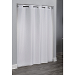 Hookless® 3-In-1 Plain Weave Polyester Shower Curtain 36x74 White 12 Per Case Price Per Each