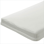 Bargoose Zippered Play Yard Crib Mattress Sheets/Covers 24x41.5x2 White 6 Per Case Price Per Each