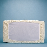 Bargoose Natural Cotton Fitted Standard Safety Sheets 27x54x7 Natural 6 Per Case Price Per Each
