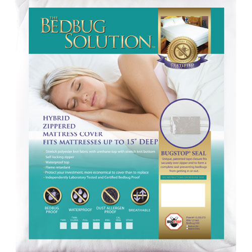 Lock-Up Twin Stretch-Knit Polyester Mattress Cover