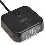 Brandstand CubieDuo Alarm Clock w/ Qi Wireless Charging & 2 USB Ports Black 16 Per Case Price Per Each