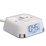 Brandstand CubieTime Alarm Clock w/ 2 USB Ports & 2 Power Outlets White 18 Per Case Price Per Each