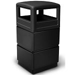 38-Gallon 3-Tier Block-Style Waste Container with Dome Lid