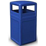 42-Gallon Square Waste Containers with Dome Lid