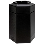 30-Gallon Hexagon Waste Containers