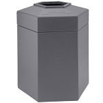 45-Gallon Hexagon Waste Containers