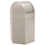 45-Gallon Hexagon Waste Containers with Dome Lid