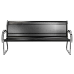 Commercial Zone® 4 Ft. Skyline Black/Stainless Steel Bench
