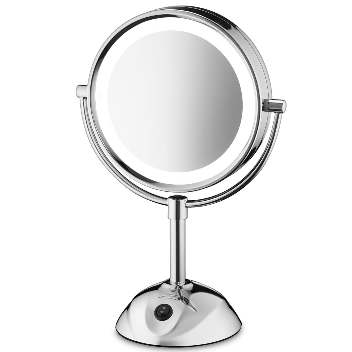 Conair Lighted Makeup Mirror.Conair Be119cwh 8 5 Led Lighted Vanity Mirror 1x 5x Magnification Chrome 4 Per Case Price Per Each