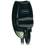 Conair® 134BW 1600 Watt Wall Mount Hair Dryer w/ LED Nightlight Black 4 Per Case Price Per Each