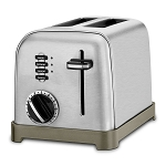 Cuisinart® CPT-160 2-Slice Metal Classic Toaster Brushed Stainless 4 Per Case Price Per Each