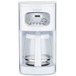 Cuisinart® DCC-1100W 12 Cup Programmable Coffee Maker White/Stainless Steel 2 Per Case Price Per Each