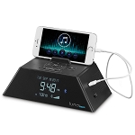 Conair® WCR450 Luna Alarm Clock Charging Station w/ Bluetooth Black 6 Per Case Price Per Each