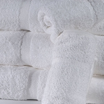 Cotton Craft St. Moritz Dobby Border Bath Towels 27x50 100% Ring Spun Cotton White or Beige 14Lbs/Dz 3 Dz Per Case Price Per Dz