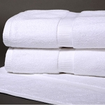 Cotton Craft Denali Luxury Dobby Border Washcloths 13x13 100% Ring Spun Cotton White 1.75Lbs/Dz 25 Dz Per Case Price Per Dz