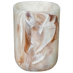 Creative Bath Celebrity Plastic Tumbler Marble Brown 6 Per Case Price Per Each