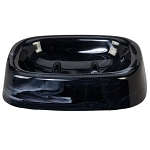 Creative Bath Celebrity Plastic Soap Dish Marble Black 6 Per Case Price Per Each