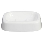 Creative Bath Celebrity Plastic Soap Dish White 6 Per Case Price Per Each