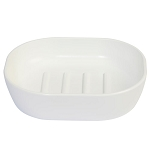 Creative Bath Crest Plastic Soap Dish Frost White 6 Per Case Price Per Each