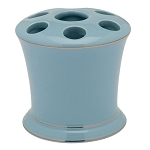 Creative Bath Regency Ceramic Toothbrush Holder Aquamarine 6 Per Case Price Per Each