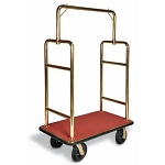 Deluxe Heavy Duty Bellman Carts - Squared Top