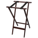 CSL Deluxe Wood Tray Stand w/ Black Straps Mahogany 4 Per Case Price Per Each