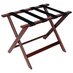 CSL Deluxe Series Wood Luggage Rack w/ Black Straps Cherry Mahogany 5 Per Case Price Per Each