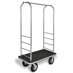 "CSL Easy-Mover™ Stainless Steel Series Bellman's Cart Black Bumper 8"" Black Pneumatic Casters"