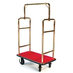CSL Deluxe Heavy Duty Titanium Gold Bellman's Cart w/ Squared Top 1-1/2