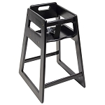 CSL Deluxe Rubber Wood Highchair Black