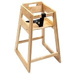 CSL Deluxe Rubber Wood Highchair Light Oak