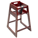 CSL Deluxe Rubber Wood Highchair Mahogany
