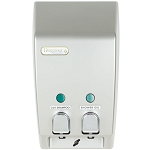 Dispenser Amenities Classic Dispenser II Satin Silver w/Chrome Button 18 Per Case Price Per Each