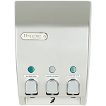 Dispenser Amenities Classic Dispenser III Satin Silver w/Chrome Button 12 Per Case Price Per Each