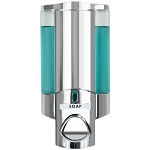 Dispenser Amenities Aviva Dispenser I Satin Chrome/Translucent Bottle 12 Per Case Price Per Each