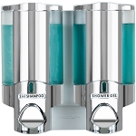 Dispenser Amenities Aviva Dispenser II Chrome/Translucent Bottles 18 Per Case Price Per Each