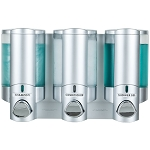 Dispenser Amenities Aviva Dispenser III Satin Silver/Translucent Bottles 12 Per Case Price Per Each