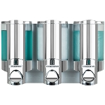 Dispenser Amenities Aviva Dispenser III Chrome/Translucent Bottles 12 Per Case Price Per Each