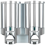 Dispenser Amenities Aviva Dispenser II Chrome w/Solid Satin Bottles 18 Per Case Price Per Each