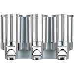Dispenser Amenities Aviva Dispenser III Chrome w/ Solid Satin Bottles 12 Per Case Price Per Each