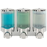 Dispenser Amenities Signature Dispenser III Chrome/Translucent Bottles 12 Per Case Price Per Each