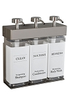 Dispenser Amenities SOLera Rectangular Bottles 15 Oz. Three Chamber 12 Per Case Price Per Each