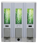 Dispenser Amenities AZAYA Dispenser III Satin Silver w/ Chrome Buttons 12 Per Case Price Per Each