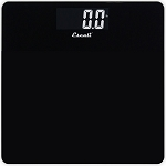Escali Black Square Glass Bathroom Scale 5 Per Case Price Per Each