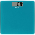 Escali Peacock Blue Square Glass Bathroom Scale 5 Per Case Price Per Each