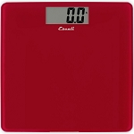 Escali Rio Red Square Glass Bathroom Scale 5 Per Case Price Per Each