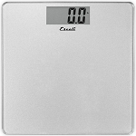 Escali Shiny Sliver Square Glass Bathroom Scale 5 Per Case Price Per Each