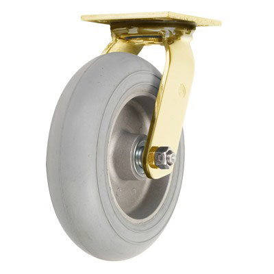 Forbes 8 Quot Cushion Grey Non Marking Wheel Amp Brass Plated